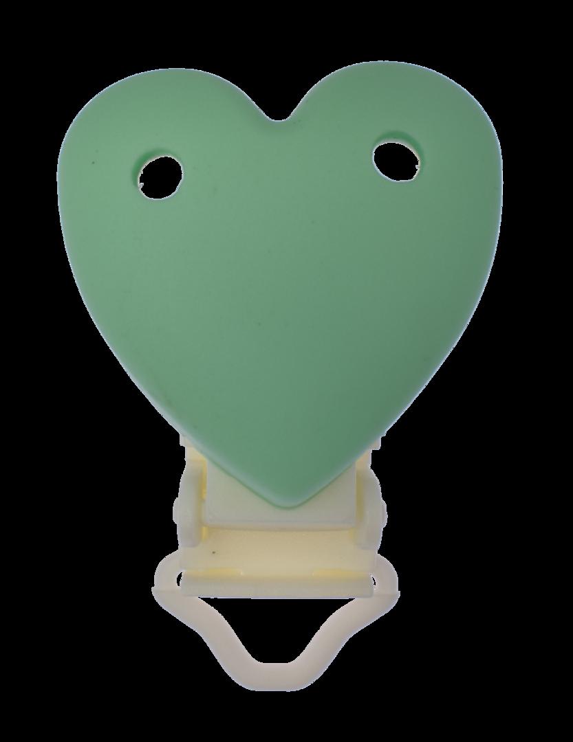 Clip Herz mit Kunststoffverschluss