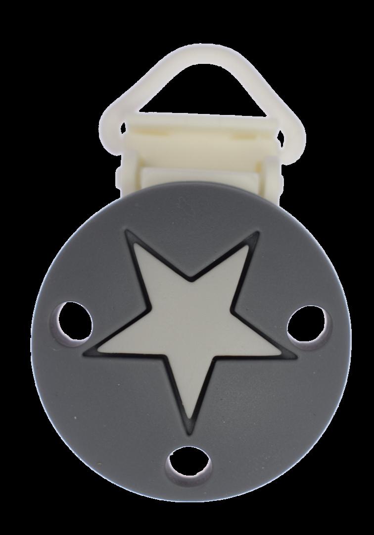 Clip Rund Stern Kunststoffverschluss - Dim Grey - Light Grey