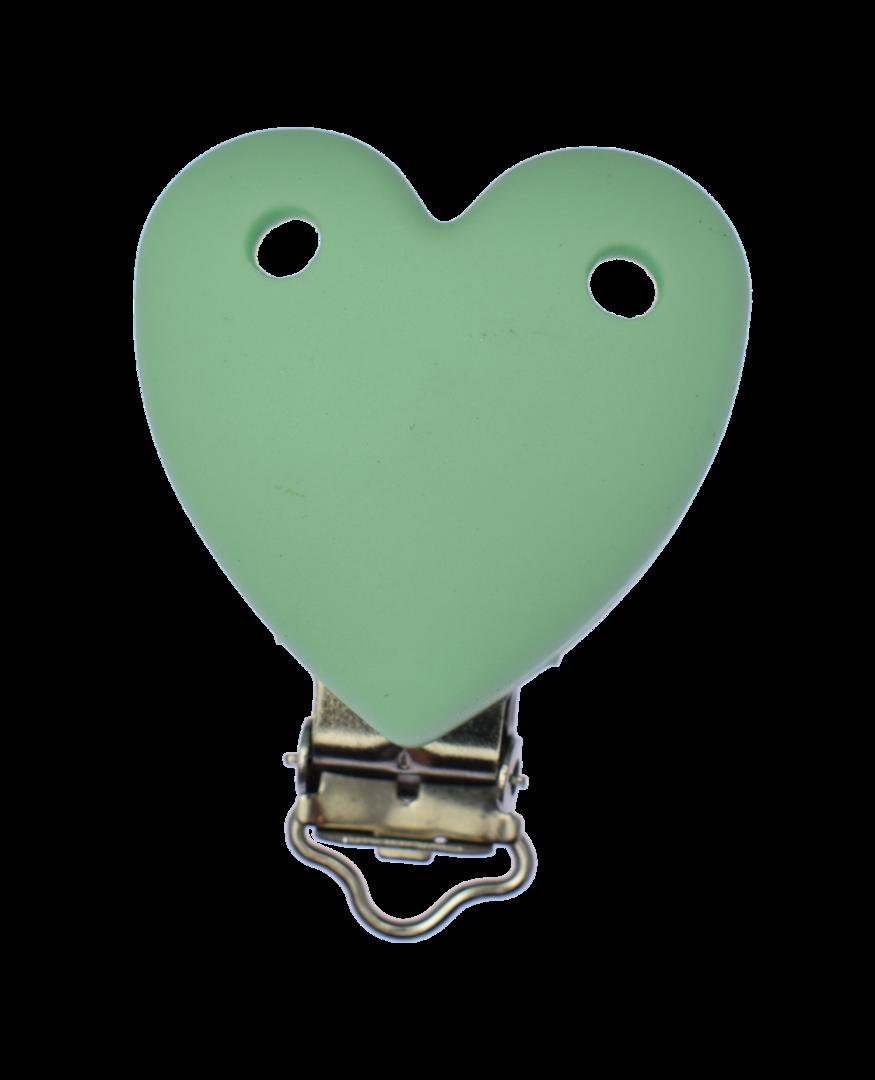 Clip Herz Mint Green