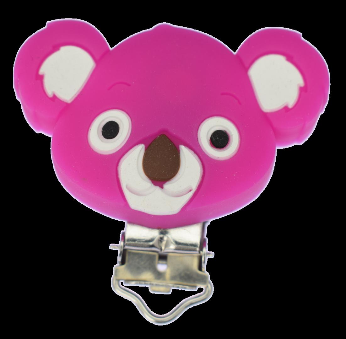 Clip Koala Violet Red