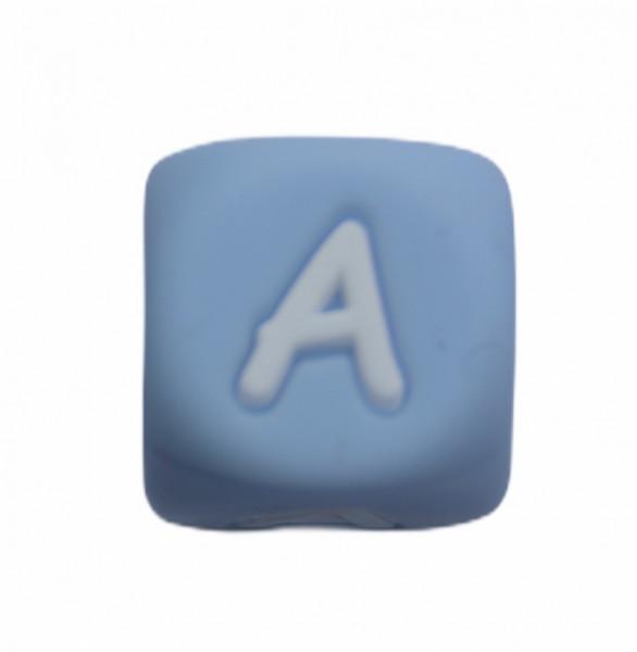 Silikonbuchstaben PASTELLBLAU 12mm