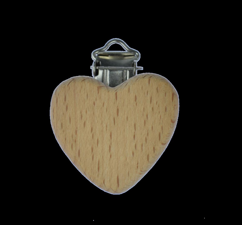 Holz Clip Herz