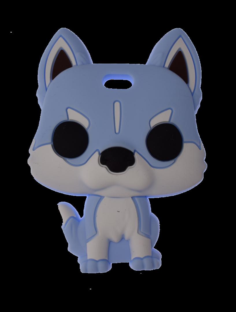 Beissanhänger Husky Blau
