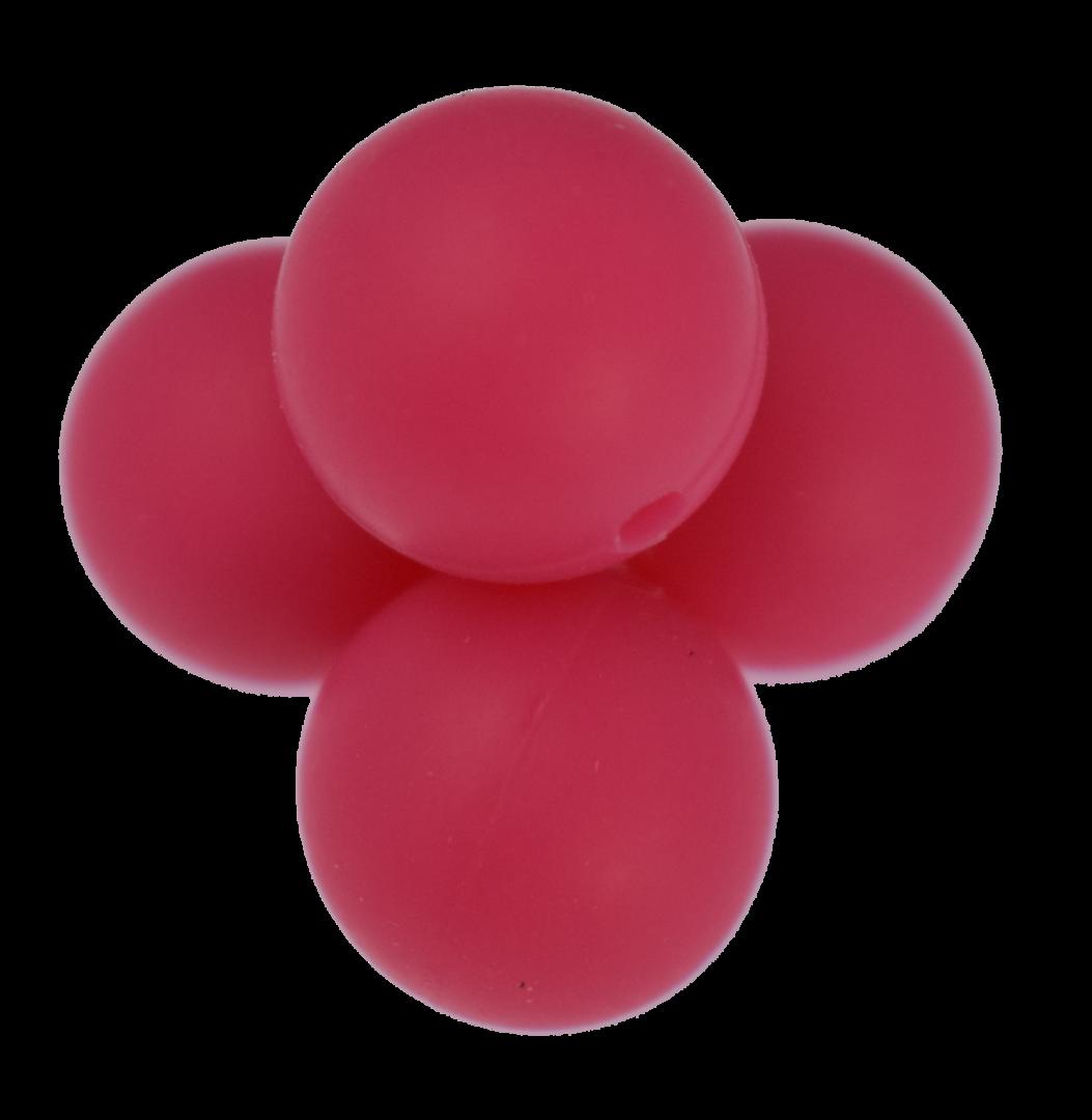 Silikonperle 15mm Dunkel-Pink