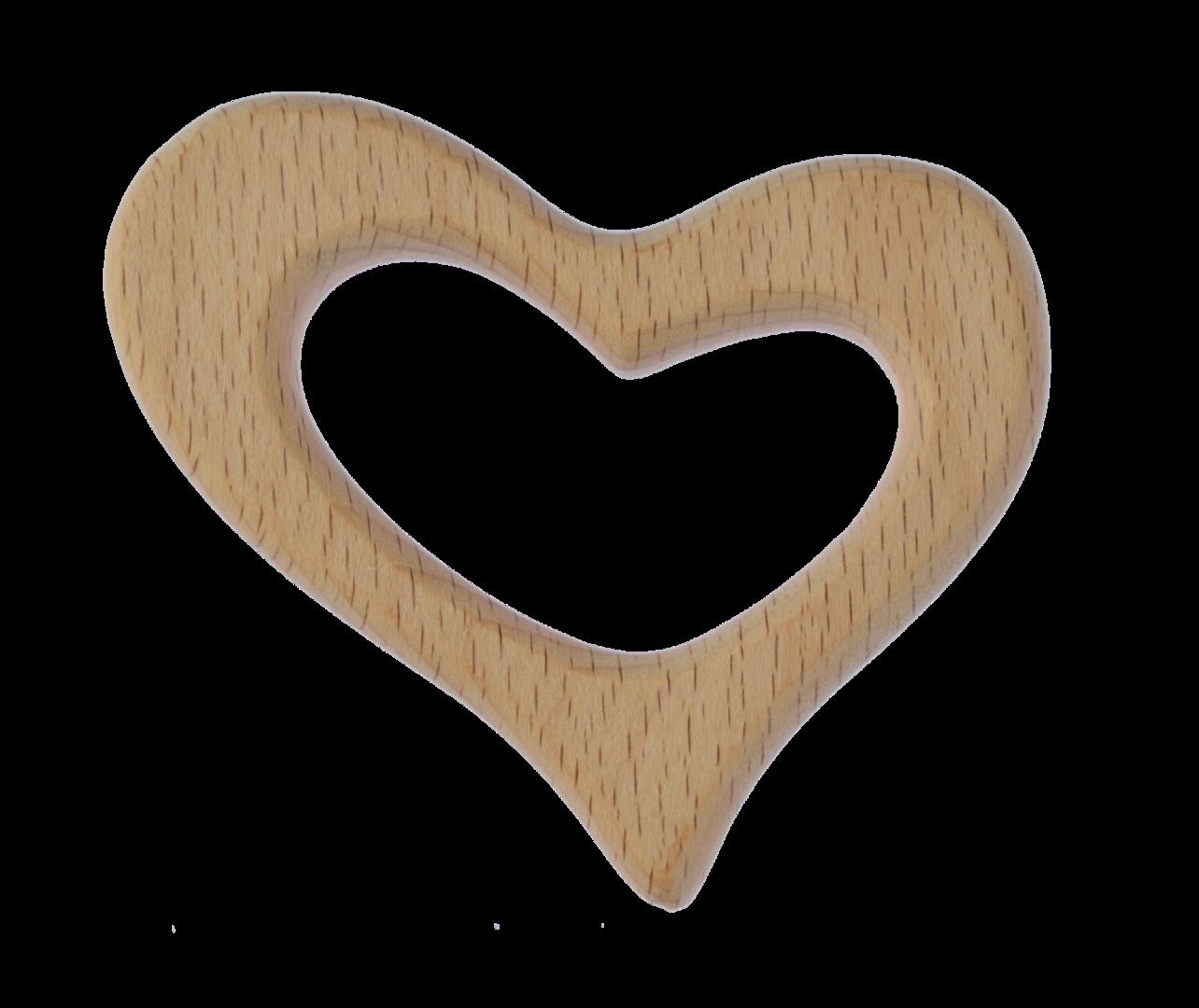 Holz Anhänger Herz