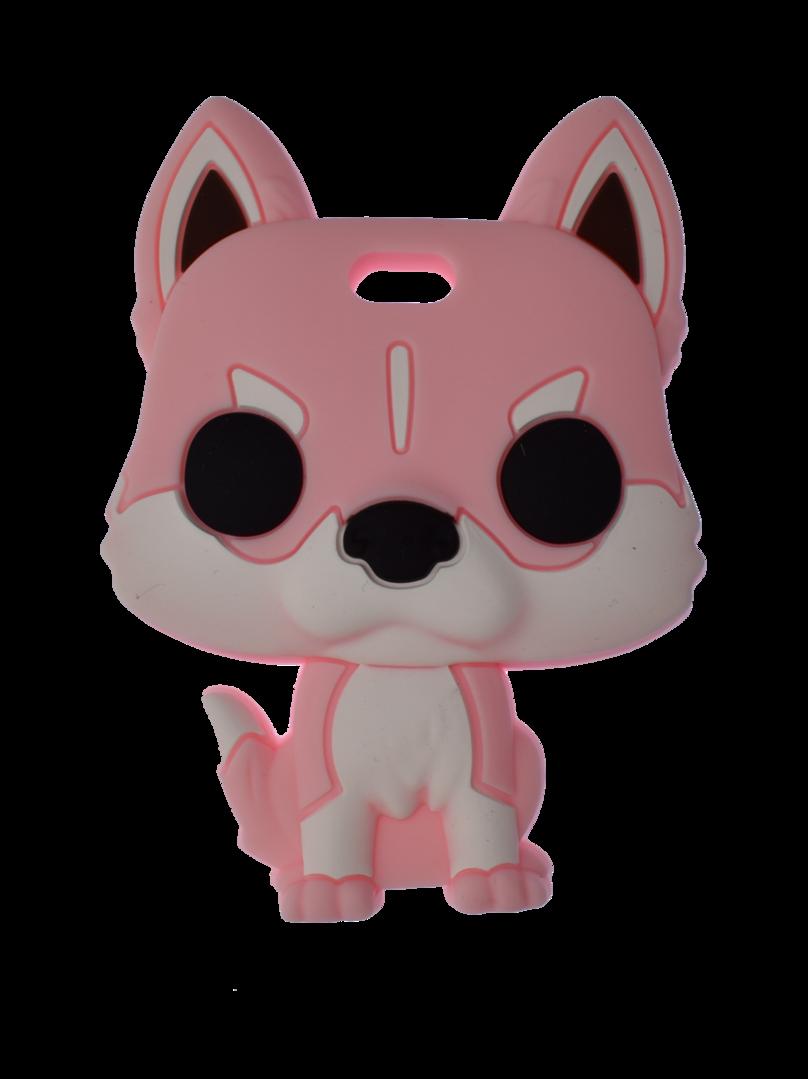 Beissanhänger Husky Candy Pink