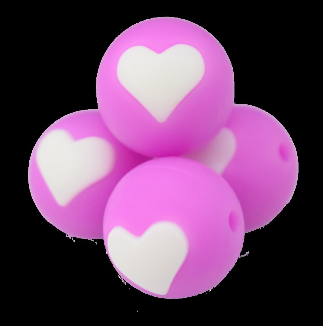 Pink-Fuchsia-Weiß