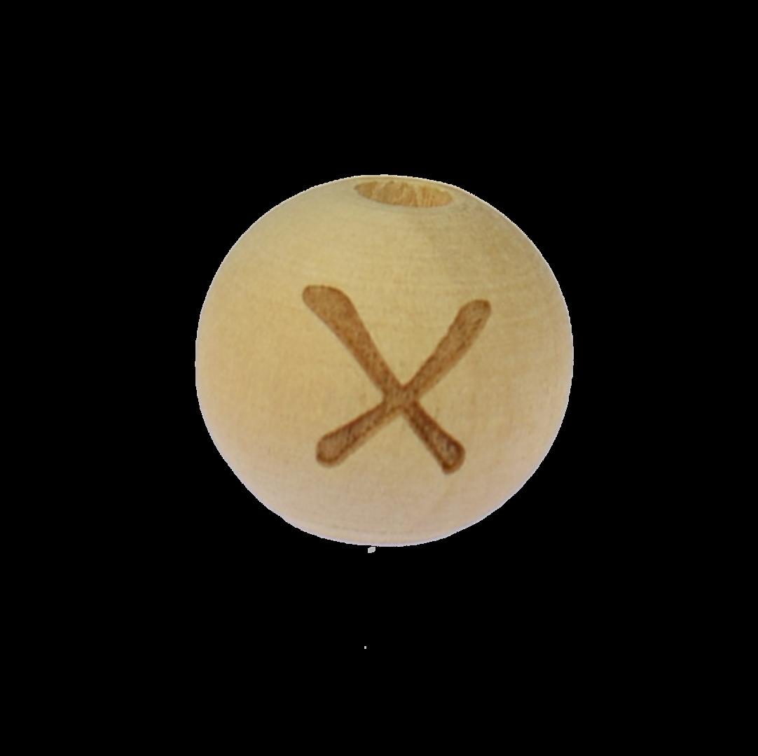 Holzbuchstabe 14mm X